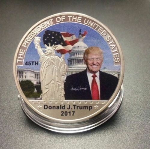 Silver Commemorative Coin Liberty White House 45Th US President Donald Trump