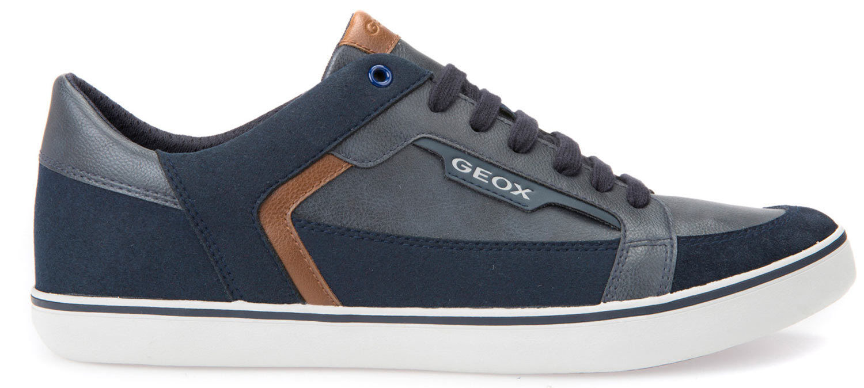 Geox Halver Herren Sneakers Freizeitschuhe U743ac-054au/c4002 Blau Navy Neu