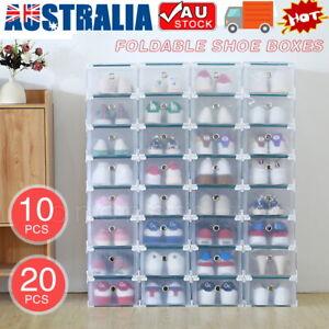 20x-Clear-Shoe-Storage-Transparent-Box-Foldable-Stackable-Plastic-Boxes-Organize