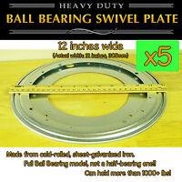 5 Pcs - 12 Inch (305mm) Full Ball Bearing Swivel Plate Lazy Susan Turntable