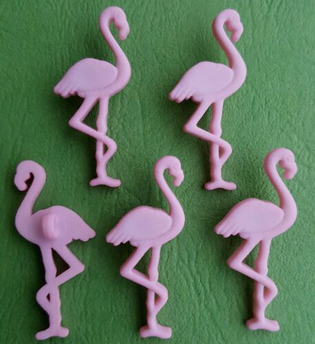 Bebé Rosa Flamingo Ave Animal Zoo Safari Pastel Niña Vestido para arriba Craft Botones