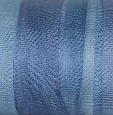 Blue Silk Ribbon 7mm 100% Pure Embroidery - 3 mtrs Hand Dyed Sea Blue
