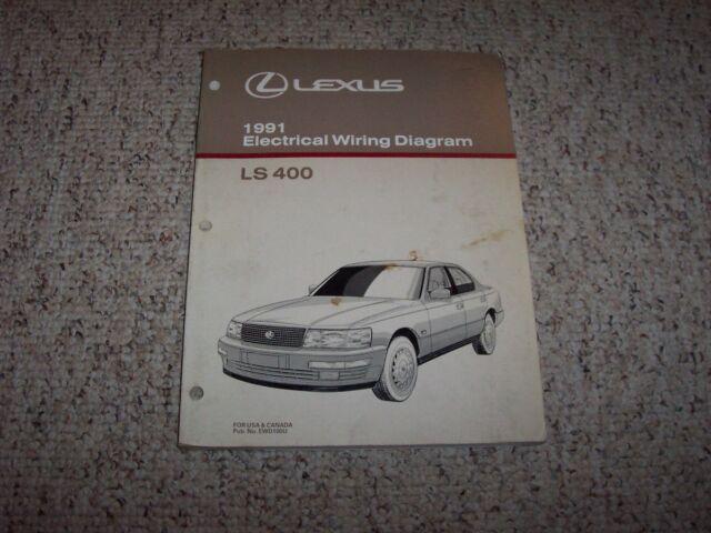 1991 Lexus Ls400 Ls 400 Factory Original Electrical Wiring Diagram Manual Book