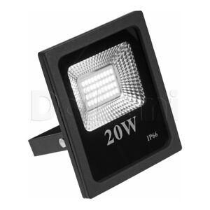 Beleuchtung Motiviert 20w Hochwertiger Smd Außen Led Flutlicht 6000k Tageslicht Ip65 Black Wasserfest Perfekte Verarbeitung