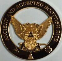 Freemason Ancient & Accepted Scottish Rite 32nd Car Emblem