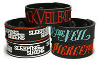 BLACK VEIL BRIDES PIERCE THE VEIL SLEEPING WITH SIRENS Rubber Bracelet Wristband