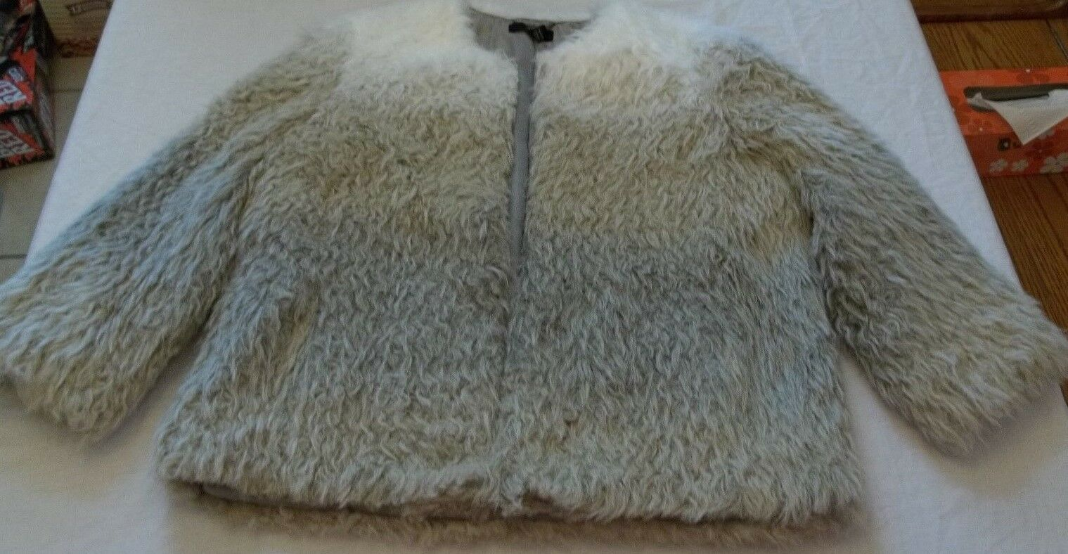 Women's a.n.a. Fur Coat Cream Combo Size X-Small New W Tags