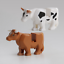 Crocodile-Tiger-Cow-Buildable-Model-kids-Animal-Building-Block-Fit-LEGO thumbnail 10