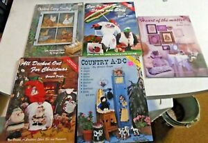 Tole-Painting-Books-Lot-of-5-books-by-Georgia-Feazle