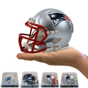 ac283404 Details about Brand New NFL Riddell New England Patriots Revolution Speed  Mini Football Helmet