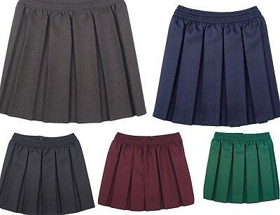 Bambine Bambini School Uniform Box pieghettato elastico in vita gonna età 2-18 anni
