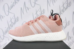 WOMENS ADIDAS ORIGINALS NMD R2 SZ 9.5 ASH PINK CRYSTAL WHITE MULTI COLOR CQ2007