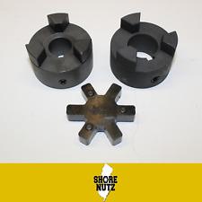L100 Flexible 3 Piece L Jaw Coupling Set Amp Buna N Nbr Rubber Spider Pick Bore