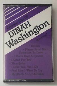 Greatest Hits of Dinah Washington Cassette Tape Ansol Music