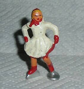 VINTAGE-Barclay-Lead-034-Girl-Skater-In-White-Red-Trim-034-B177-Near-Mint-F-S-Lot-A