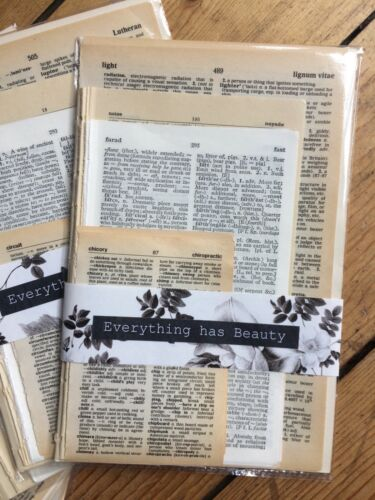 Vintage Dictionary Pages Ephemera Paper Pack Scrapbooking Junk Journal 25 pages