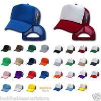 DECKY NEW TRUCKER HAT HATS CAP CAPS TWO TONE BLANK PLAIN SOLID SNAPBACK UNISEX