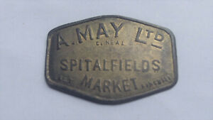 Spitalfields London MARKET TOKEN A. May Ltd. 20/- Twenty Shillings by C.Neal