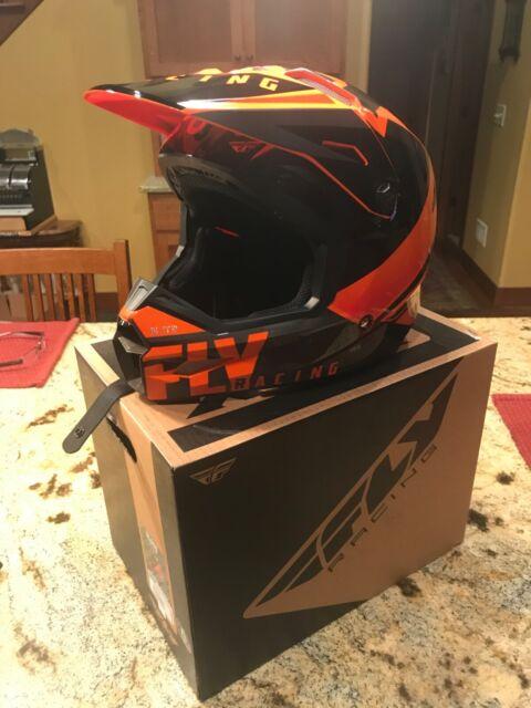 Orange Adult ATV Helmet Small Medium Large XL XXL