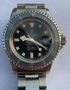 Vintage-Tudor-Submariner-Snowflake-9411-0-Original-Watch-Great-034-Ghost-034-Bezel