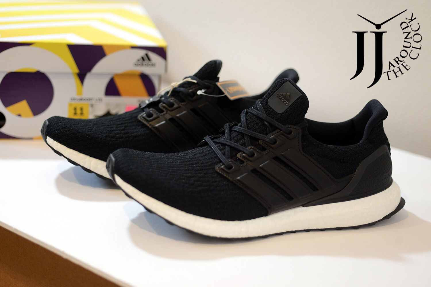 New Adidas Men's UltraBoost 3.0 LTD Core Black Leather Cage Pack  BA8924 11 US