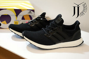 Adidas ultraboost 3.0 leather cage black Sz 11