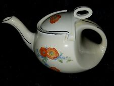 Rare & Vintage 1933-1953 Hall China Orange Poppy Streamline Teapot