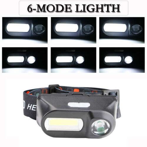 20000LM COB LED Headlamp USB Rechargeable Headlight Outdoor Camping Fishing Lamp