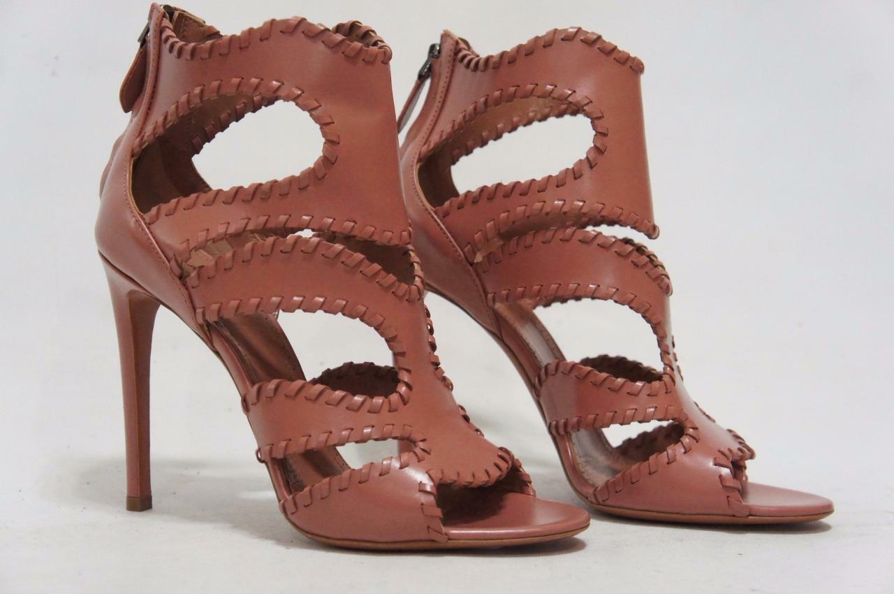 ALAIA CUT-OUT GLOSSED-LEATHER GLOSSED-LEATHER GLOSSED-LEATHER STILETTO SANDALS schuhe 38 8  1530 f46b1f