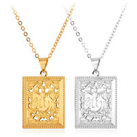 Islamic Big Pendant Allah Necklace 18k Gold/platinum Plated Men's Jewelry Gift