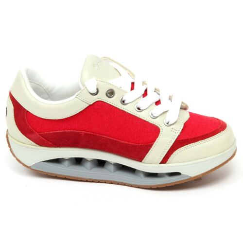 Sneaker F4064 Woman Donna Red ivory Shoe Scholl Tissue Starlit leather HFZwFqp