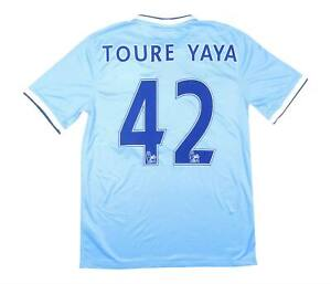 Manchester City 2013-14 Authentic Home Shirt YAYA TOURE #42 (eccellente) M