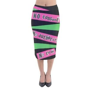 outlet online lace up in latest releases Details about PUNK Exclusive Original Designer Velvet Midi Pencil Skirt  Size:Medium10-12uk