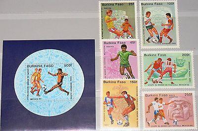 Dass Haare Vergrau Werden Und Helfen Zuversichtlich Burkina Faso 1985 988-94 Block 94 681-88 Soccer World Cup Mexico Fußball Wm Mnh Verhindern Den Teint Zu Erhalten