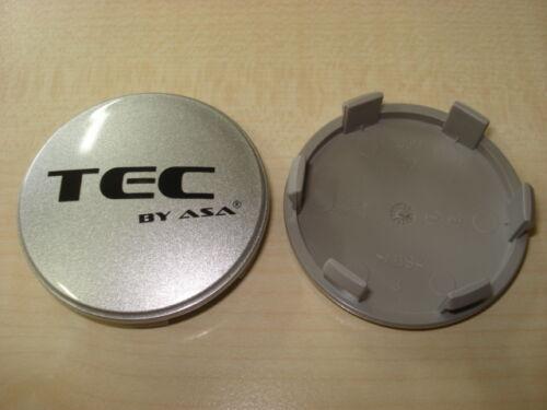 Center cap 60mm plata nuevo original cubos gorra Tec llantas tapa