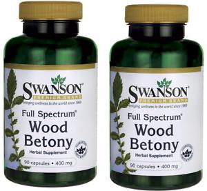 2-X-Swanson-Full-Spectrum-Wood-Betony-400mg-90-Capsules