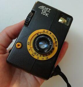 Details about AGAT 18K Half Frame Industar-104 2 8/28 Rangefinder Compact  Soviet Camera