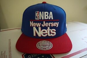0db539372fa Image is loading Authentic-New-Jersey-Nets-Snapback-Mitchell-amp-Ness-