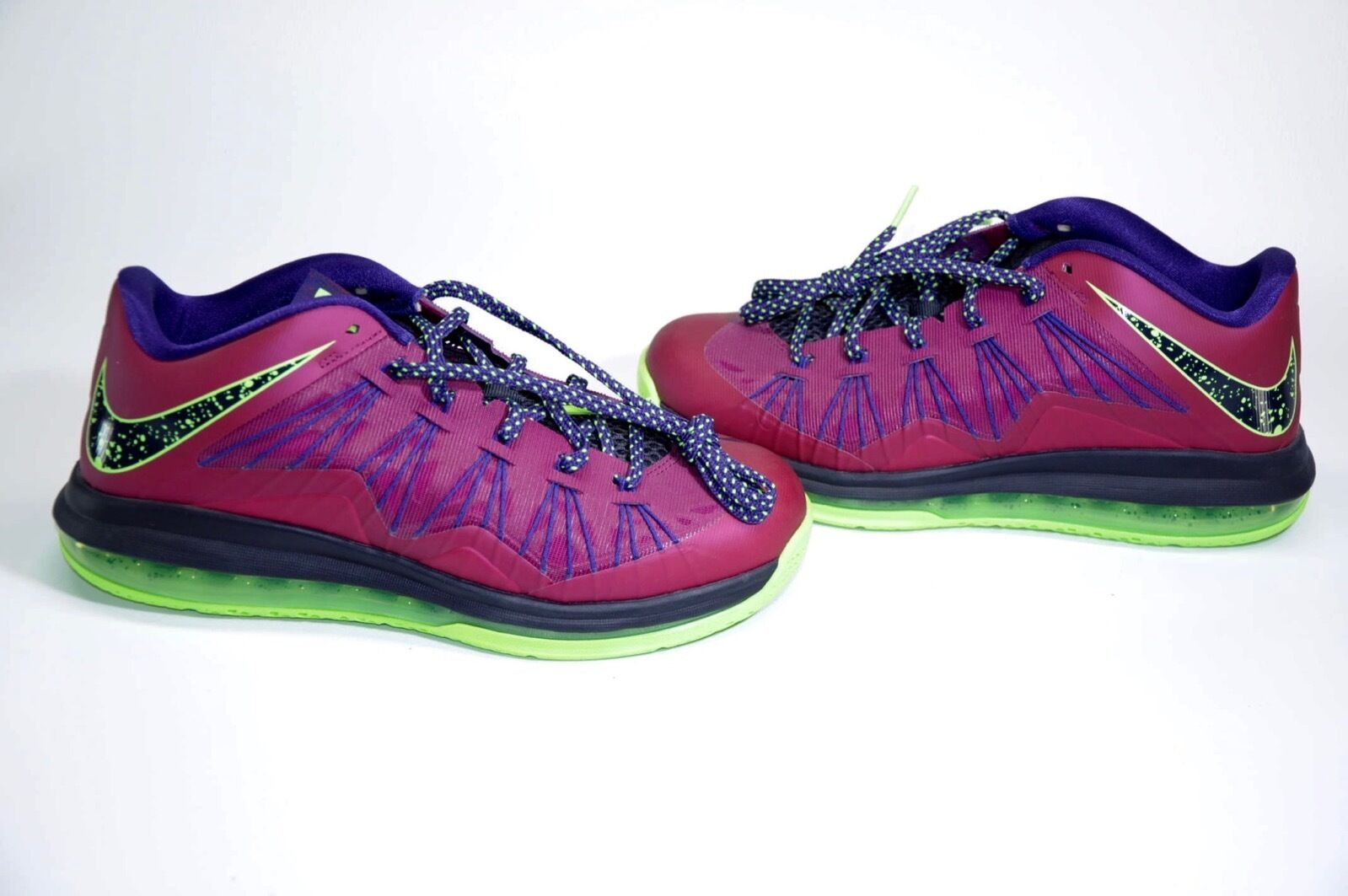 NEW NIKE AIR MAX LEBRON X 10 RASPBERRY-BLUE PRINT-PURPLE-LIME Price reduction Brand discount