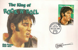 ELVIS PRESLEY  FIRST DAY COVER 022 THE KING OF ROCK AND ROLL STAMPED IN ANTIGUA - <span itemprop=availableAtOrFrom>Barnsley, United Kingdom</span> - ELVIS PRESLEY  FIRST DAY COVER 022 THE KING OF ROCK AND ROLL STAMPED IN ANTIGUA - Barnsley, United Kingdom