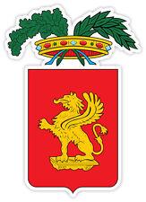 Grosseto stemma coat of arms Italy provincia Italia etichetta sticker 9cm x 13cm