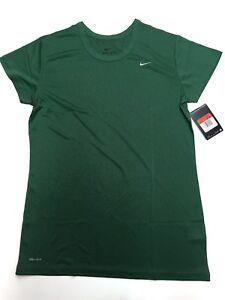 Nike-Dri-Fit-Women-039-s-Performance-Short-Sleeve-Shirt-Green-349014-341-Large