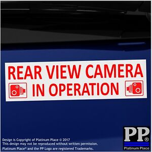 Details about 1 x Rear View Camera In Operation Stickers-EXTERNAL CCTV  Signs-Van,Taxi,Car,Cab