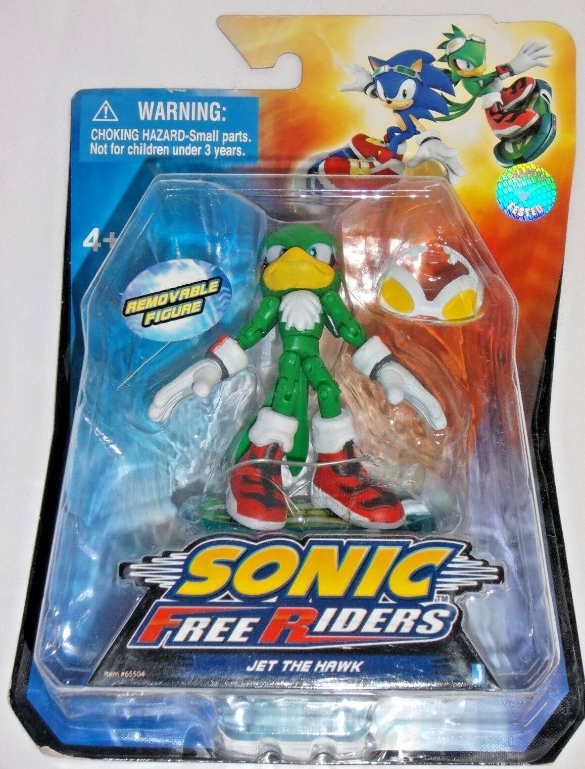 JAZWARES Video Juego Sonic Hedgehog Free Riders-Jet Hawk Poseable Figura De Acción