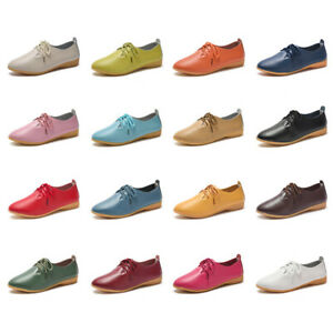UK-3-9-Women-s-Ladies-Flats-Pumps-Moccasin-Leather-Loafer-Casual-Comfort-Shoes
