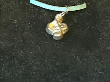 "Music Note TG45 English Pewter On 18"" Blue Cord Necklace"