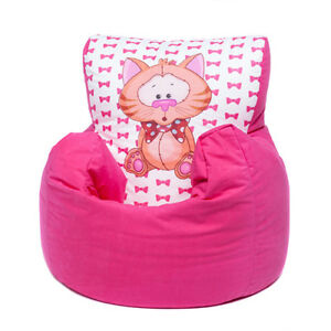 Terrific Details About Pink Cat Childrens Character Filled Beanbag Kids Bean Bag Chair Bedroom Pabps2019 Chair Design Images Pabps2019Com