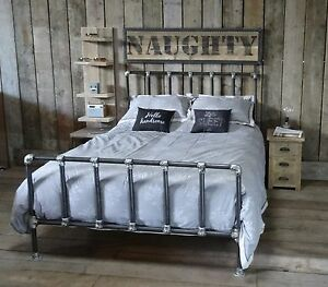 Industrial Kingsize Scaffold Pole Bed Made In The