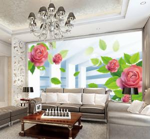 3D Blossom Leaf 481 Wallpaper Murals Wall Print Wallpaper Mural AJ WALL UK Kyra