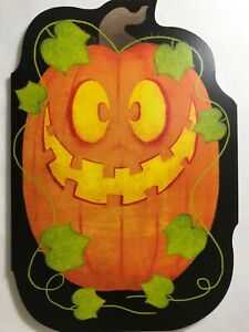 Halloween Card 3D Card w// a pumpkin w// press button for sound and light